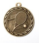 Tennis 2 Round Sculptured Medal   High Relief Series Medals