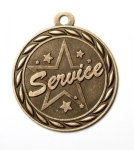 Service 2 Round Sculptured Medal  High Relief Series Medals