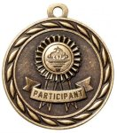 Participant  2 Round Sculptured Medal   High Relief Series Medals