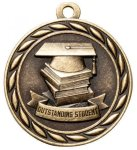 Outstanding Student 2 Round Sculptured Medal   High Relief Series Medals