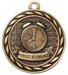 Perfect Attendance  2 Round Sculptured Medal  High Relief Series Medals