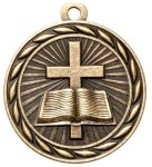 Religious 2 Round Sculptured Medal   High Relief Series Medals