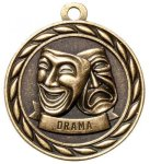 Drama 2 Round Sculptured Medal  High Relief Series Medals