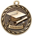 Graduate 2 Round Sculptured Medal    High Relief Series Medals