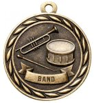 Band 2 Round Sculptured Medal   High Relief Series Medals