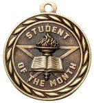Student of the Month  2 Round Sculptured Medal  High Relief Series Medals