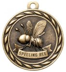 Spelling Bee 2 Round Sculptured Medal    High Relief Series Medals