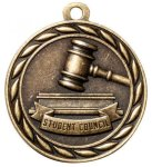 Student Council 2 Round Sculptured Medal   High Relief Series Medals