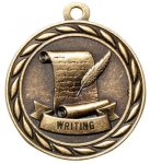 Writing 2 Round Sculptured Medal    High Relief Series Medals