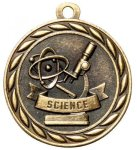 Science 2 Round Sculptured Medal   High Relief Series Medals