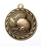 Football 2 Round Sculptured Medal  High Relief Series Medals