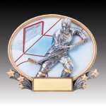 3-D Action Resin Oval Ice Hockey Hockey