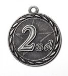 2nd Place 2 Round Sculptured Medal     Hockey Trophy Awards