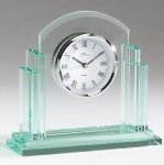 Glass Desk Clock Jade Glass Awards