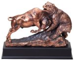 Resin Bear And Bull Large Figure Trophies