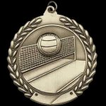 M Series Sculptured Medal Volleyball Large Sculptured Series Medals