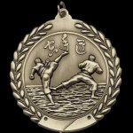 M Series Sculptured Medal Karate Large Sculptured Series Medals