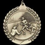M Series Sculptured Medal Football Large Sculptured Series Medals