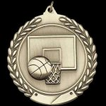 M Series Sculptured Medal Basketball Large Sculptured Series Medals