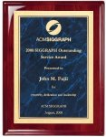 Rosewood Piano Finish Corporate Plaque Marble Awards