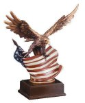 Eagle With Flag  Wing Span Metallic Painted Series