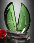Flight Emerald Award Optical Crystal
