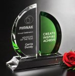 Greenley Emerald Award Optical Crystal