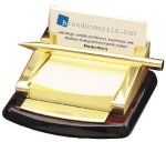 Post It, Pen, Business  Card Holder Paperweights