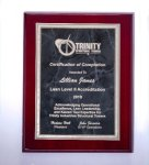 Rosewood High Lustr Plaque with Gray Marble Plate Religious Awards