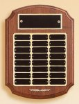 American Walnut Ornate Perpetual Plaque Religious Awards