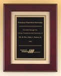 Rosewood Piano Finish Plaque with Florentine Plate Religious Awards