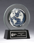 Glass Clock with World Dial Religious Awards