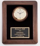 Walnut Wall Clock Plaque Religious Awards