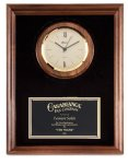 Genuine Walnut Clock Plaque Religious Awards