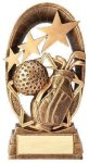 Radiant Stars Golf Trophy Resin Trophies