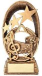 Radiant Stars Music Trophy  Resin Trophies