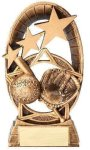 Radiant Stars Baseball Trophy Resin Trophies