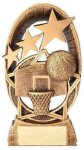Radiant Stars Basketball Trophy  Resin Trophies