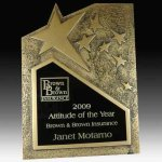 Gold Rising Star Award Resin Trophies