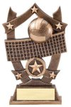 3D Sport Stars Volleyball Resin Trophies