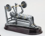 Weightlifting Bench, Female Resin Trophies