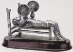 Weightlifting Bench, Male Resin Trophies