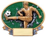 Motion X Oval  Soccer Resin Trophies