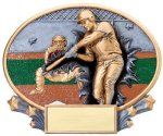 Motion X Oval Baseball Resin Trophies