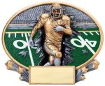 Motion X Oval Football Resin Trophies