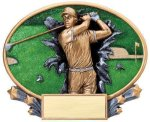 Motion X Oval -Golf Male  Resin Trophies