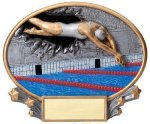 Motion X Oval -Swimming Female Resin Trophies