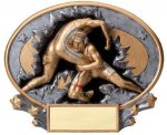 Motion X Oval -Wrestling Male  Resin Trophies