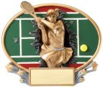 Motion X Oval -Tennis Female Resin Trophies