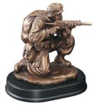 Soldier Kneeling With Rifle Drawn Resin Trophies